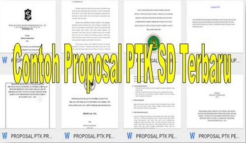 Contoh Proposal PTK SD Terbaru