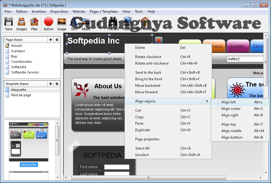 Web Acapella 4 3 1 8 Full Patch - Software Pembuat Website