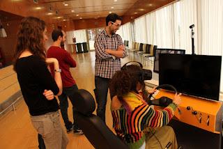 Simulador para prácticas con carretilla elevadora