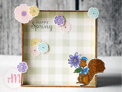 Stampin' Up! rosa Mädchen Kulmbach: Stamp A(r)ttack Blog Hop: Die ersten Blumen sprießen – Dekorahmen mit Fable Friends, Fable Friends und Blüten des Augenblicks