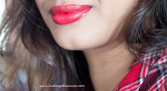 Essence XXXL Longlasting Lipgloss Matt Effect in Silky Red Review, Swatches, Photos