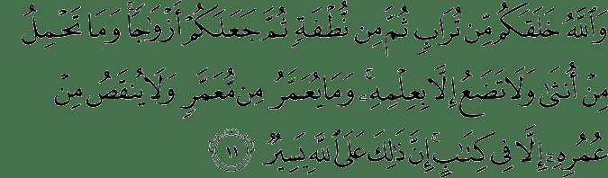 Surat Al-Fathir Ayat 11