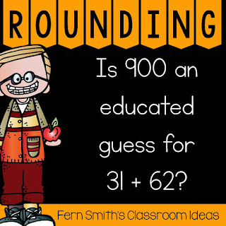 Click here to see my entire post on teaching Rounding to Estimate the Sums.