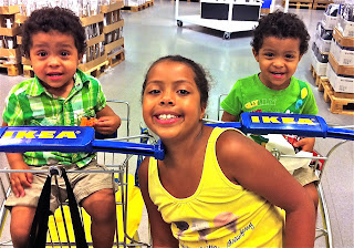 Kids at IKEA