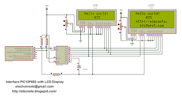 pic12f683 interfacing lcd example mikroc