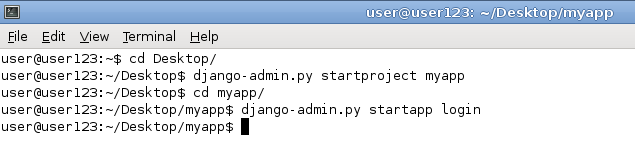 Simple Login and User Registration Application using Django