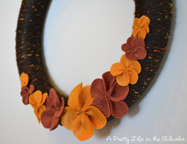 Cozy Fall Yarn Wreath