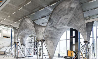 Ultra-thin Concrete Roof Construction Prototyping