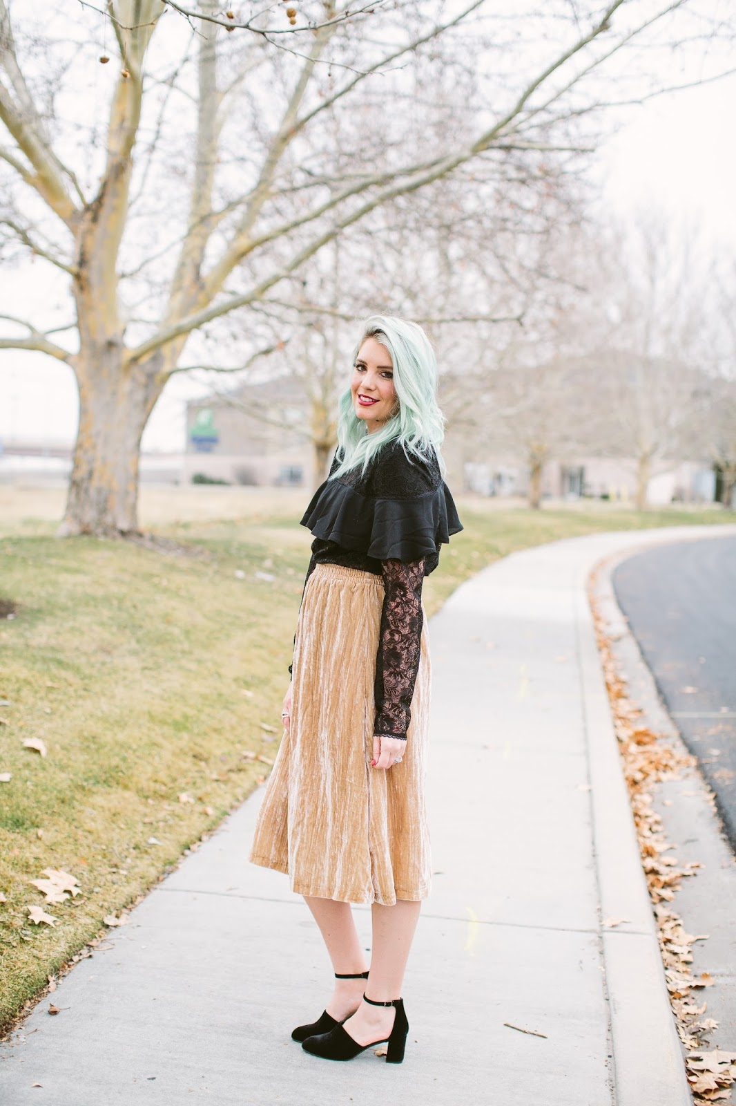 Velvet Skirt, Utah Fashion blogger, Sunday Style