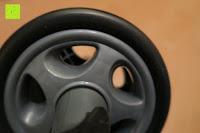 Rad Seite: KYLIN SPORT Bauchtrainer Ab Roller Bauchmuskeltrainer Dual Wheel Ab-Wheel mit Knie Pad