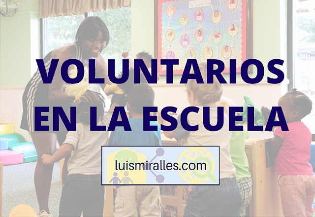 voluntarios en la escuela