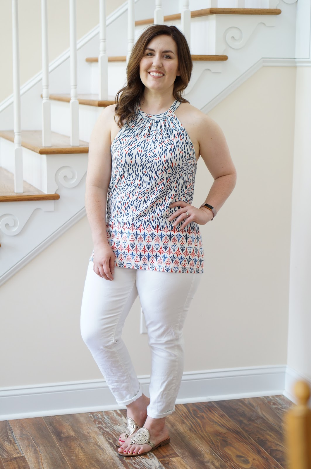 Popular North Carolina style blogger Rebecca Lately shares a patriotic outfit perfect for summer.  Click here to see some of her newest pieces from Stitch Fix!