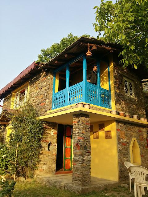Beautiful stone architecture in Pangot