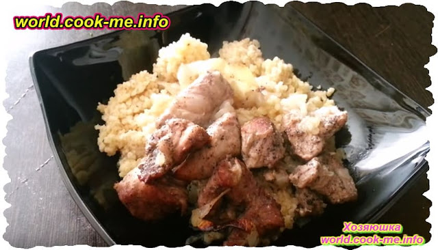 Мясо запеченное в огуречно-ореховом соусе