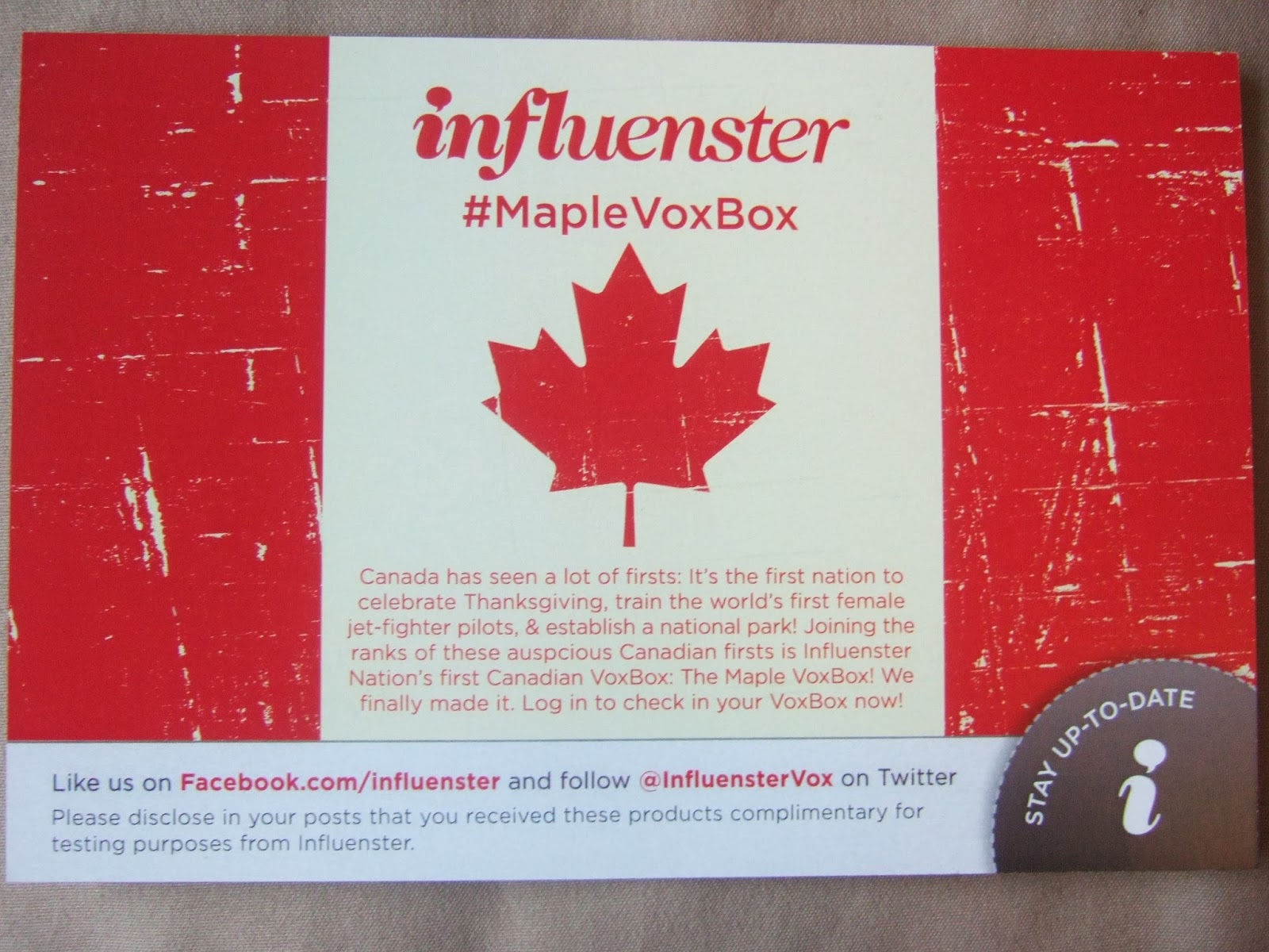 Influenster #MapleVoxbox Review