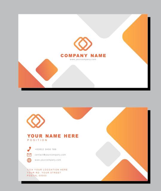 Desain Kartu Nama Minimalis