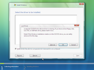Cara Mengatasi Error a Required CD/DVD Device Driver is Missing ketika installasi Windows-anditii.web.id