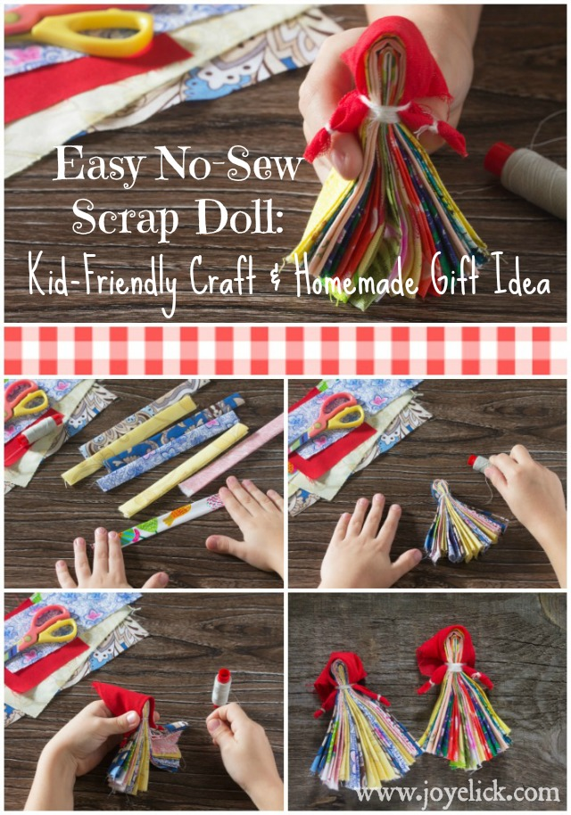scrap doll easy kid friendly craft and homemade gift idea using