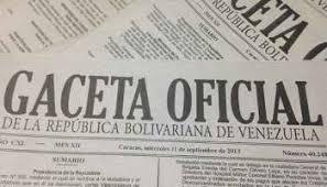 Léase SUMARIO de Gaceta oficial Nº 41306 22 de diciembre de 2017