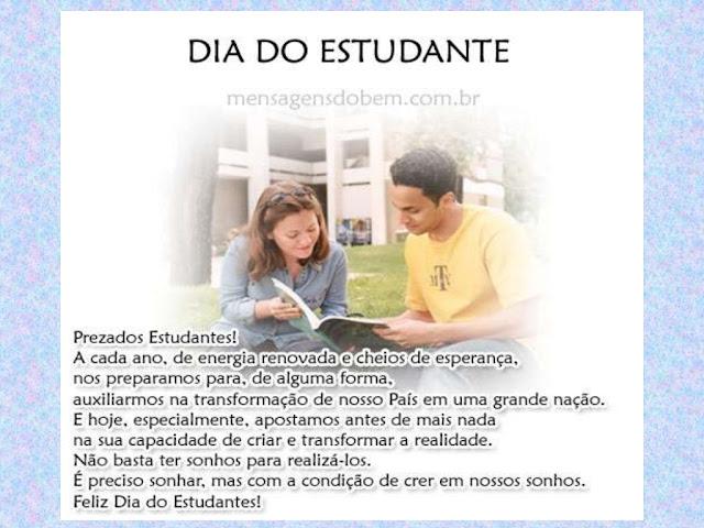 MENSAGEM DIA DO ESTUDANTE