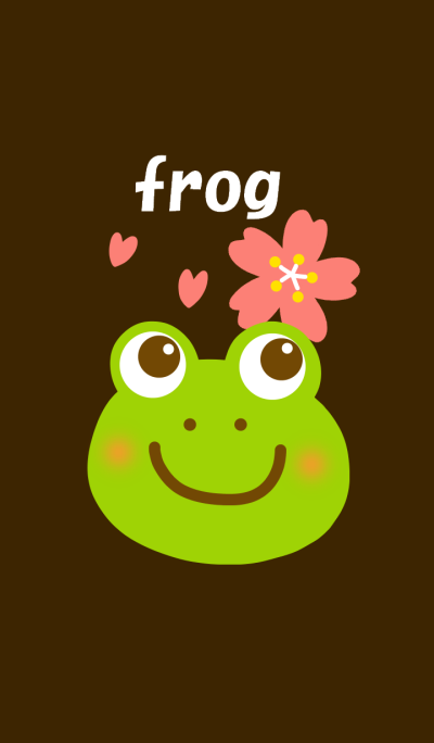 Frogs and cherry blossoms