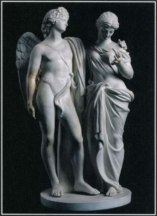 Winged greek god and eros