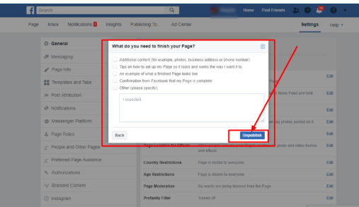 How Do You Make A Facebook Page Private<br/>