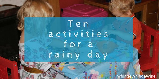 Ten activities for a rainy day (with a toddler and a preschooler)