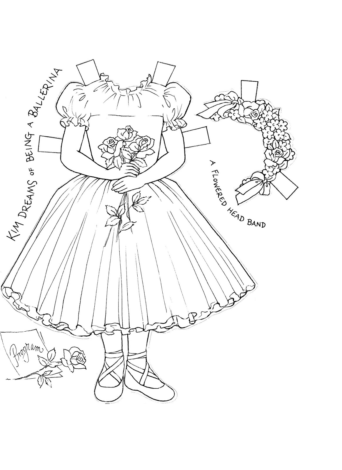 Mostly Paper Dolls Too!: Kim's Paper Doll Coloring Book.