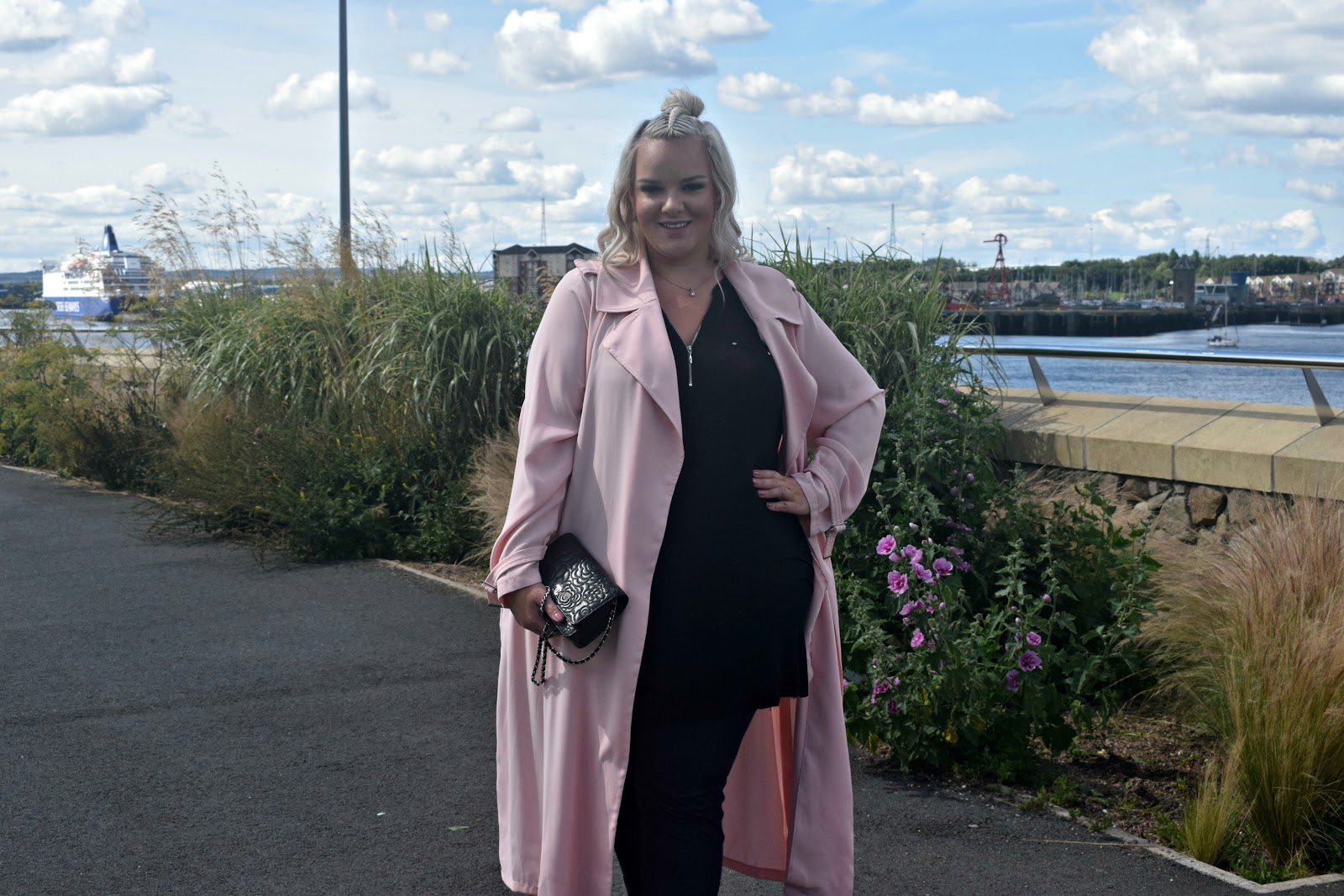 RI Plus Powder Pink Trench Coat UK Plus Size Blogger WhatLauraLoves
