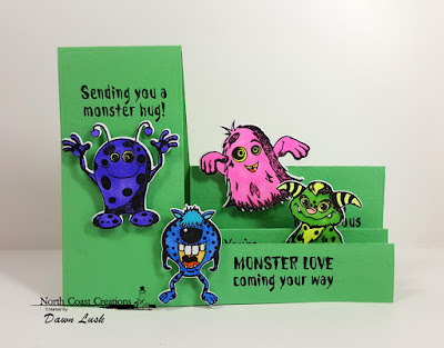 North Coast Creations Stamp Set: Little Monsters, North Cost Creations Custom Dies: Monsters