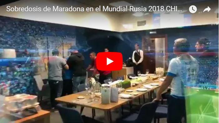 Sobredosis de Maradona en el Mundial Rusia 2018