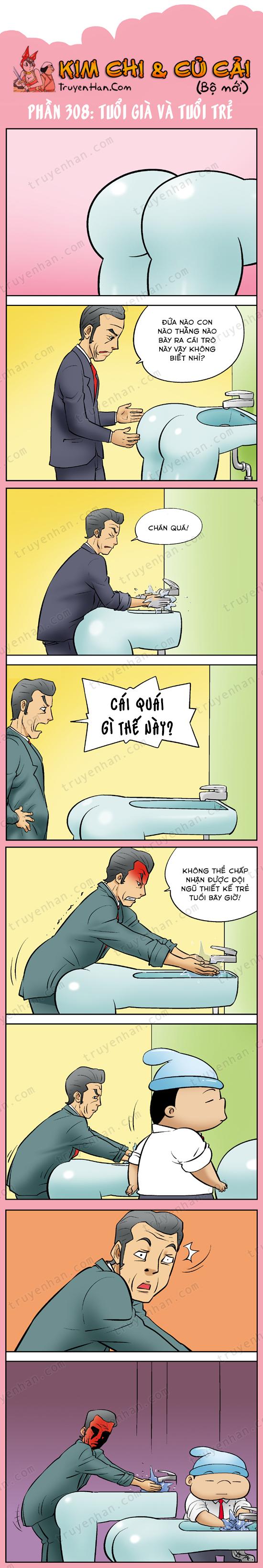 Kim Chi & Củ Cải (bộ mới) phần 308: Tuổi già và tuổi trẻ