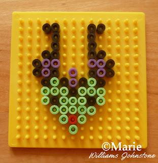 Creating hama perler designs on small square boards