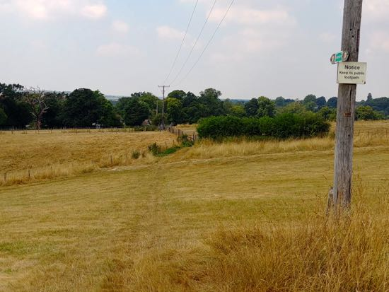 Keep to the left of the telegraph pole Image by Hertfordshire Walker released under Creative Commons BY-NC-SA 4.0