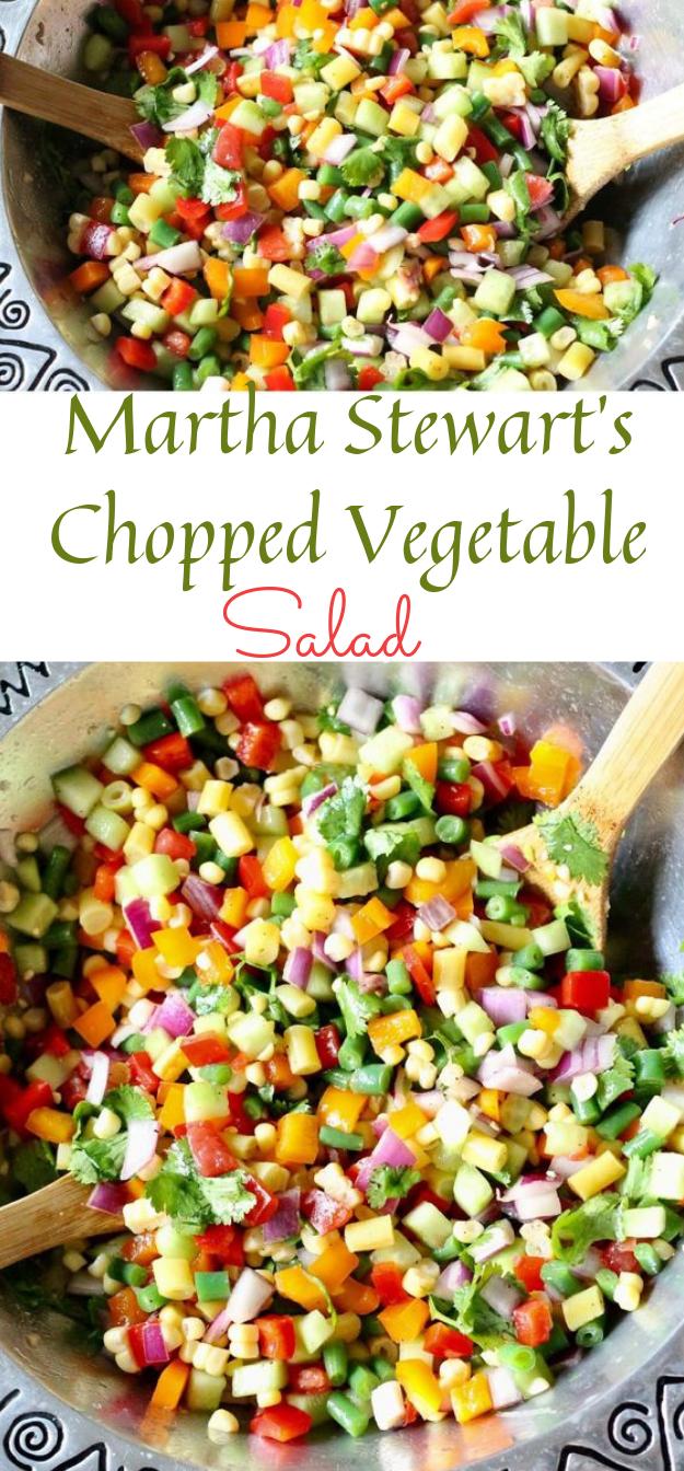Spring Chopped Salad  #salad #vegan