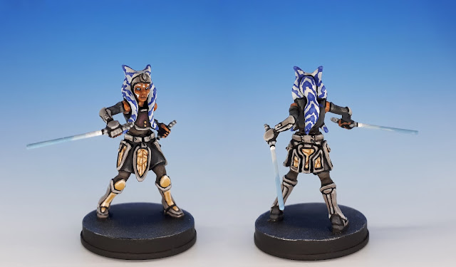 Ahsoka Tano, painted miniature sculpted by Adam Martin, 2017