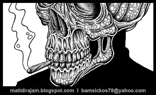 bam sickos pointillism artist, pointillism art, artist for hire, bam sickos art, punk artist