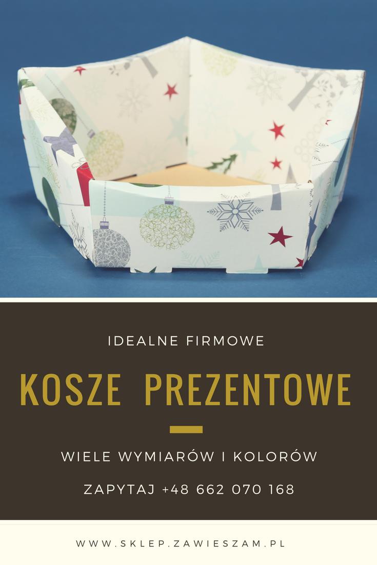 firmowe świąteczne koszyki prezentowe