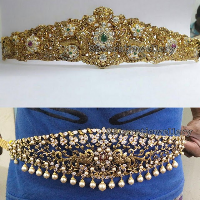 Moissanite Stone Light Weight Waistbelts