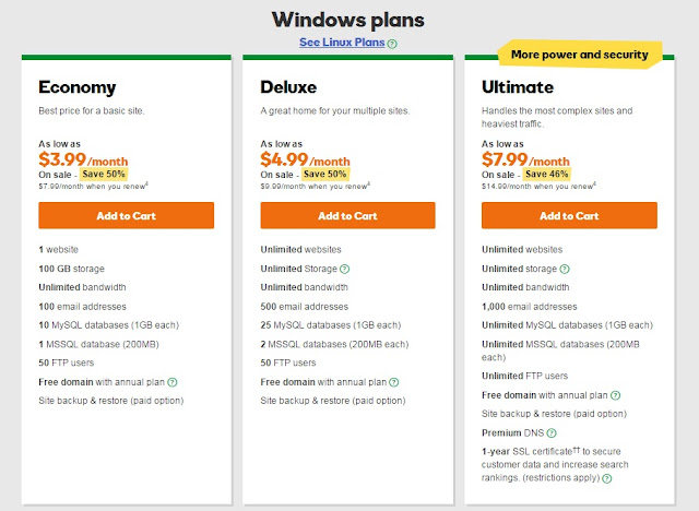 Godaddy - ASP.NET Hosting Plan