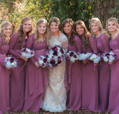 Tori Bates and Bobby Smith wedding bridesmaids
