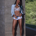 Nigerian model Faith Morey flaunts boobs in semi-nude lingerie photos