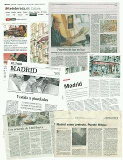 Currículum de Carlos Puente Ortega, en periódicos de Madrid.