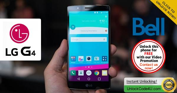 Factory Unlock Code LG G4 from Bell