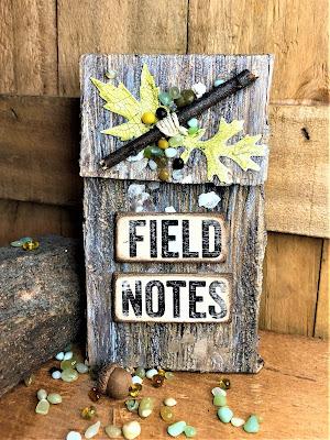 Sara Emily Barker http://sarascloset1.blogspot.com/ Field Notes Mini Album 3D Texture Fade Lumber 1