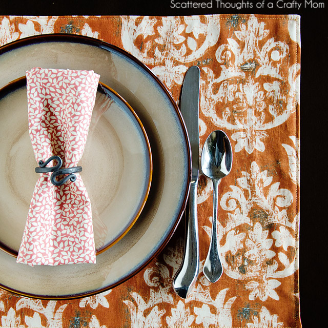 Easiest Sofa Fabric To Clean Easy Reversible Holiday Placemats | Scattered Thoughts Of