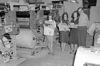 Dozier family with Goss Community press Kerrville Daily Times 1967