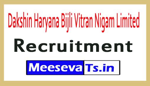 Dakshin Haryana Bijli Vitran Nigam Limited DHBVN Recruitment