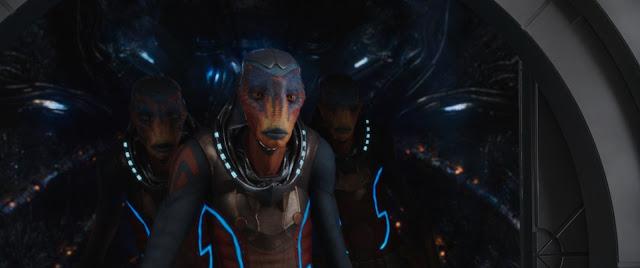 Escena en la que aparecen personajes fantásticos en la película Valerian y la ciudad de los mil planetas que ha sido dirigida por Luc Besson